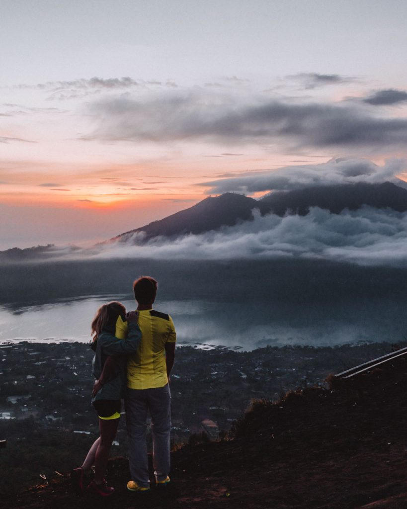 Bali Reise Batur Vulkan Sonnenaufgang
